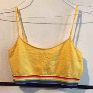 Forever 21 gold and rainbow bralette